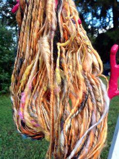 Mulberry silk alpaca sparkle handspun yarn by FluffduJour on Etsy, $30.00
