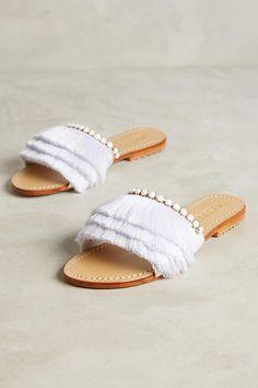 Slide View: 1: Mystique Fringe Slide Sandals