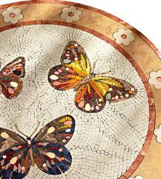 Mosaic tile bathtub surround - ALBA - SICIS