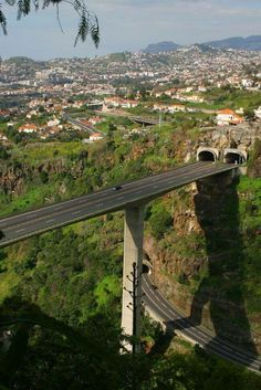 Madeira Island tunnels and motorway.