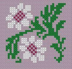 Michaelmas Daisy cross stitch pdf chart pattern by TheEndlessKnot, £2.75