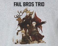 Axis Powers Hetalia Fail Trio Brothers Bros Tee T-Shirt Shirt