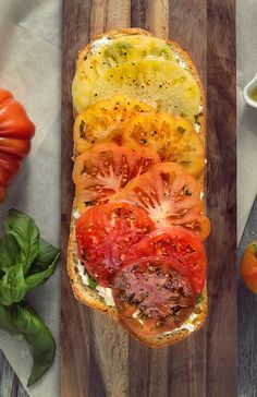 Heirloom Tomato Baguette. This looks SO good! Cant wait for yummy tomatoes to come out!