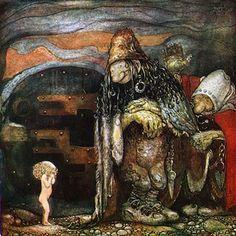 """""""Cuentos suecos"""", ilustración de John Bauer"""
