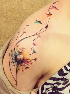 Dandelion tattoo meaning is one of the currently popular symbols that wanted by . - Dandelion tattoo meaning is one of the currently popular symbols that wanted by many women and men. Tattoos For Daughters, Tattoos For Guys, Tattoos With Birds, Cover Up Tattoos For Men Arm, Back Of Neck Tattoos For Women, Tattoos To Cover Scars, Body Art Tattoos, Sleeve Tattoos, Tatoos