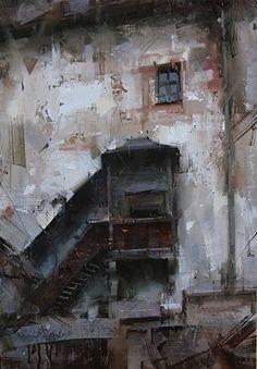 The Lost Kingdom by Tibor Nagy Oil ~ 20 x 14