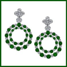 These #emerald and #diamond #earrings are sure to make your friends green with envy! #sashaprimak style AE360-EM