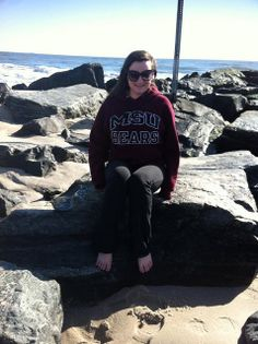 Karissa McIntire relaxes on the beaches of Cape May, New Jersey, in her BearWear.