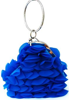 evening bag in blue Bleu Royal, Royal Blue, Fashion Moda, Blue Fashion, Azul Real, Unique Purses, Love Blue, Color Azul, Electric Blue