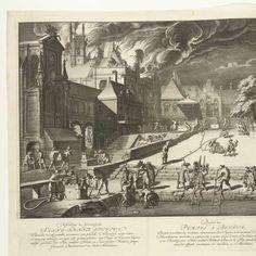 Gebruik van de nieuwe brandspuitslangen, 1677, Joseph Mulder, 1677 - 1718 - brand-Collected Works of ate kahrel - All Rijksstudio's - Rijksstudio - Rijksmuseum