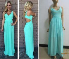 a Foto Real, Prom Dresses, Formal Dresses, Aliexpress, Ideias Fashion, Backless, Light Blue Long Dress, Blue Long Dresses, Junior Graduation Dresses
