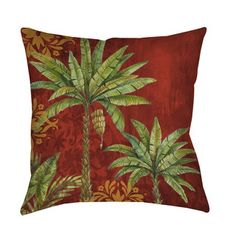 Shop for Thumbprintz Palms Red Decorative Throw Pillow. Free Shipping on orders over $45 at Overstock.com - Your Online Home Decor Outlet Store! Get 5% in rewards with Club O!