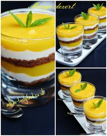 chute a vône mojej kuchyne. Healthy Deserts, Mango, Food And Drink, Pudding, Drinks, Desserts, Recipes, Cakes, Wedding Planner
