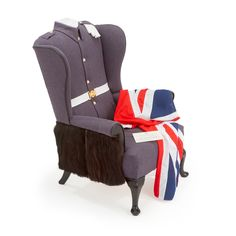 'The Palace Guard Wing Chair' #Royal #Palace #OneOff #Queen #BuckinghamPalace #London #Design #Art