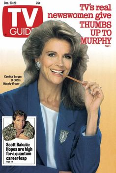 Candice Bergen, Series star of the Check out Scott Bakula, little pic in the left-bottom corner. Candice Bergen, Great Tv Shows, Old Tv Shows, 1980s Tv Shows, Real Tv, Murphy Brown, Television Tv, Comedy Tv, Vintage Tv