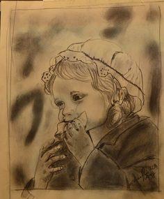 BAMBINA - matita on paper - 1970 - 17x20