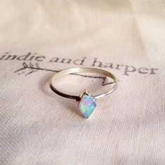 Diamond Shape Navajo Opal Ring | Bohemian Jewellery | Indie and Harper – www.indieandharper.com