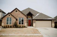 Red door. New home in Edmond, Oklahoma.