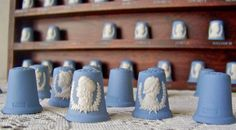 Vintage King and Queen Thimble Collection King by cynthiasattic