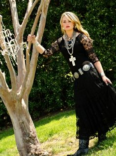 Black Lace Angel Dress by Vintage Collection