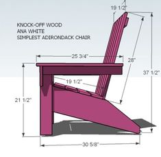 Ana White Ana39s Adirondack Chair Diy Projects throughout Adirondack Chairs Blueprints