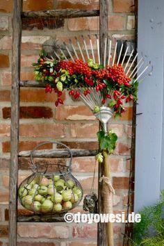 Front Garden Entrance, Deco Floral, Ladder Decor, Fall, Outdoor, Home Decor, Party, Ideas, Gardens