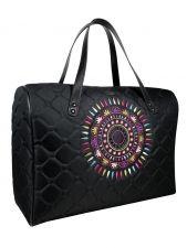 A big shoulder travel bag SOL (coloured embroidery)