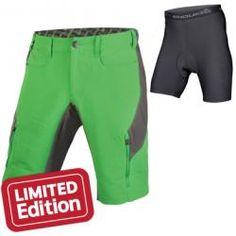 Kraťasy Endura SingleTrack III - zelená, pánské, s vložkou E8061KG
