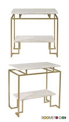 Who says a side table can't steal the spotlight? This one is a vision of elegance and style for now and for years to come. Shop end and side tables now!