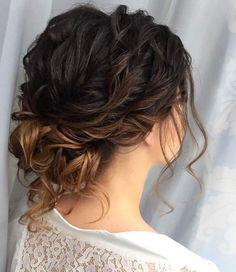 Beautiful loose wave updo wedding hairstyle Idea,wedding hairstyles,loose waves updo