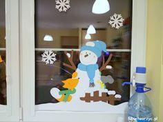 Zimowa dekoracja okienna w przedszkolu :)   #zima #winter #dekoracje #decoration #przedszkole #preschool #kindergarten #nurseryschool #handmade #okno #windowdecor #lubietworzyc