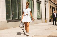 The NYFW Street-Style Looks That Truly Stunned #refinery29  http://www.refinery29.com/2014/09/73987/new-york-fashion-week-2014-street-style-photos#slide7  Elaine Welteroth does an all-white denim look.