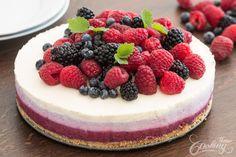 No-Bake Ombre Berry Cheesecake
