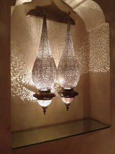10 Amazing Home Interiors Lighting to Enhance Your Rooms - decoraloop Moroccan Room, Moroccan Lamp, Moroccan Lanterns, Moroccan Interiors, Moroccan Design, Moroccan Pendant Light, Moroccan Lighting, Wall Sconce Lighting, Chandelier Lighting