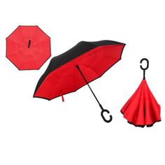 Automatic Double Layer Windproof Inverted Umbrella