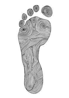 Jasmin Ekström Footprint illustration