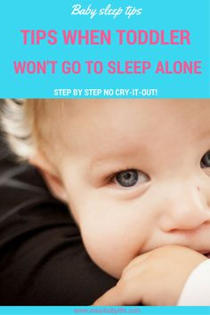 Young toddlers often won't go to sleep alone. Here is a mom's cry for help, tips on how to help a toddler sleep better and many parents' comments.