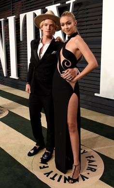 Pin for Later: See Which Stars Let Their Hair Down at Vanity Fair's Oscars Afterparty! Cody Simpson and Gigi Hadid