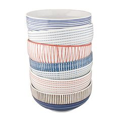 Striped Bowls Gift Set, this would greatly help me actually not have to wash after every breakfast.