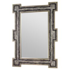 Pulling a global look together isn't puzzling at all with this gorgeous mirror. Hand-inlaid grey bone forms an eye-catching labyrinth inside silver angular edges. The fascinating combination creates a solid look that locks together eclectic style with modern design.