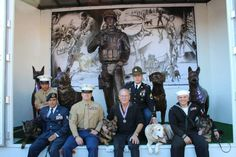 This is excellent! Gabe with other military hero dogs at the Rose Bowl Parade in Pasadena, CA