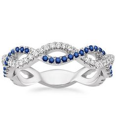 The Eternal Twist Diamond and Sapphire Ring #BrilliantEarth