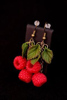 Earrings raspberries от Katinakrasota на Etsy