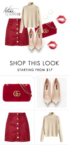 """F - A - S - H - I - O - N"" by bernotaitegg ❤ liked on Polyvore featuring Gucci, Louis Vuitton, Boohoo and Justine Clenquet"