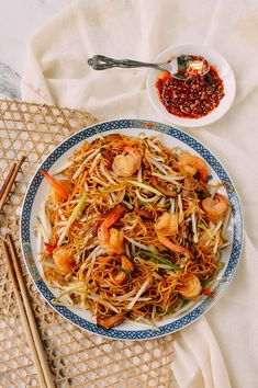 #Hong #Kong #Style #Shrimp #Chow #Mein #Noodles recipe by thewoksoflife.com