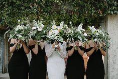 TAHLIA + DAN // #white #green #foliage #flowers #bouquet #wedding #ceremony #reception #bride #bridesmaids #photographer