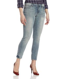 Calvin Klein Jeans Women`s Slim Boyfriend With Rolled Cuffs $59.99