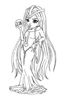 Sylvidra - Queen Lafresia - lineart by JadeDragonne