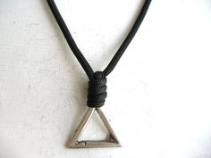 Mens Necklace Triangle Necklace Everyday Necklace by eacarjewelry
