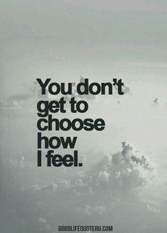 You no longer control me